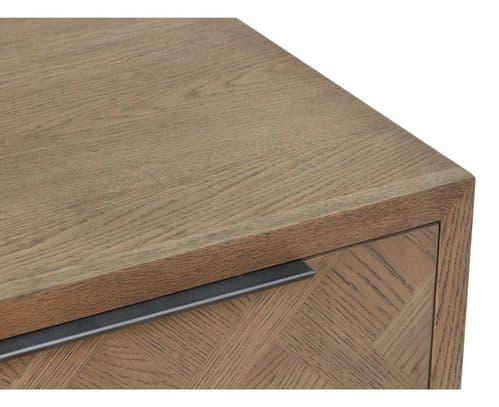 Iberia Grey Oak Lamp Table